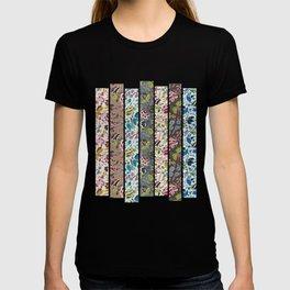 floral art collage T-shirt