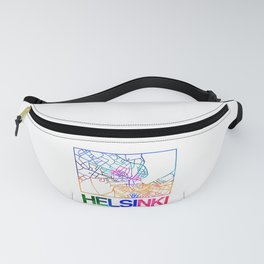 Helsinki Watercolor Street Map Fanny Pack