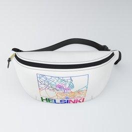 Helsinki Watercolor Street Map Fanny Pack