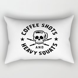 Coffee Shots And Heavy Squats v2 Rectangular Pillow