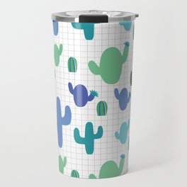 Cactus blue and green #homedecor Travel Mug