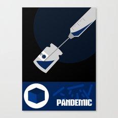 Pandemic - Blue  Canvas Print