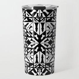 Chess Pieces Geometric Ornament Travel Mug
