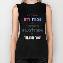 Gratitude ~ Xmas Spirit Quote Biker Tank