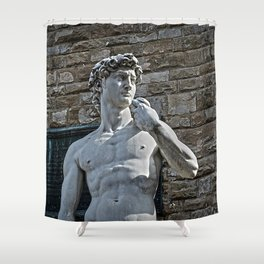The Statue of David Shower Curtain