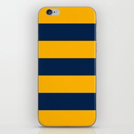 Slate Blue and Golden Yellow Stripes iPhone Skin