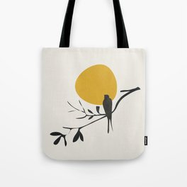 Bird and the Setting Sun Tote Bag