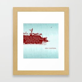 -Eric Cantona Framed Art Print