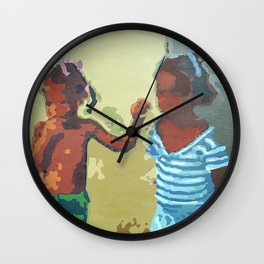 Painted on the Wall (3 of 5) Wall Clock
