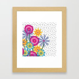 BOUQUET BOUNTY Fuchsia Framed Art Print