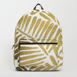Tropical Banana Leaves – Gold Palette Backpack