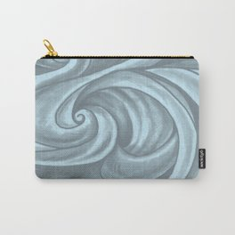 Swirl (Gray Blue) Carry-All Pouch