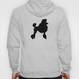 Poodle Dog Breed black Silhouette Hoody