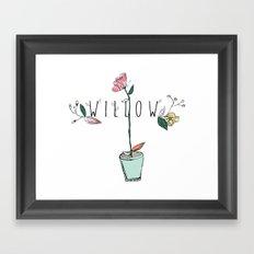floral kids custom! Framed Art Print
