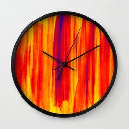hot colors Wall Clock