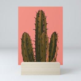 cartoon cactus  Mini Art Print