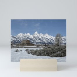 John Moulton Barn and the Grand Tetons Mini Art Print