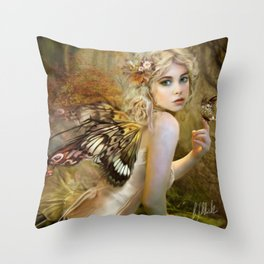 Touch of Gold - Fairy Throw Pillow