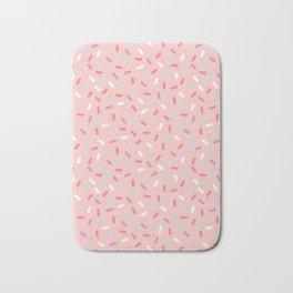 Pink Sprinkle Confetti Pattern Bath Mat