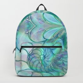 Abalone Shell Nautilus Kalidescope Backpack