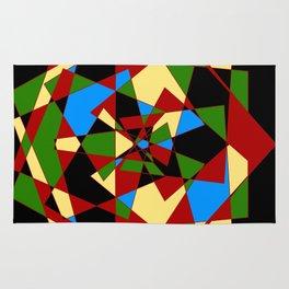 Shattered Multi-Color Geometric Rug