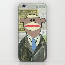 Sock Monkey 129: The Bean Counter iPhone Skin
