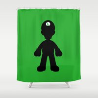 luigi Shower Curtains featuring Luigi  by Jessica Wray