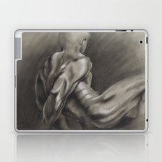 Nude Male Figure Study, Black and White.  Laptop & iPad Skin