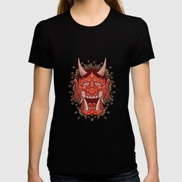 Hannya Demon Oni Demon Japanese Mask  T-shirt