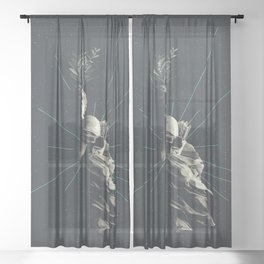 Marbled Dignity Sheer Curtain