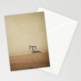 Digging for Black Gold Stationery Cards