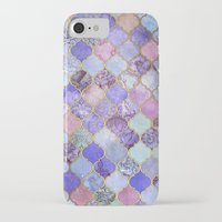 moroccan iPhone & iPod Cases featuring Royal Purple, Mauve & Indigo Decorative Moroccan Tile Pattern by micklyn