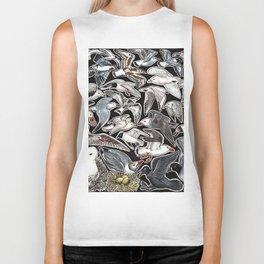 Sea gulls for bird lovers Biker Tank
