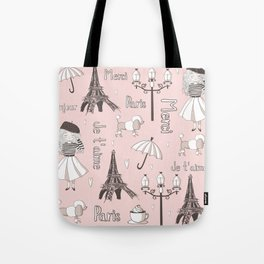 Paris Girl - Pink Tote Bag