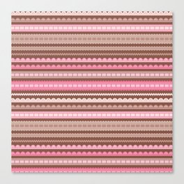 Vector ribbons and laces seamless borders Canvas Print