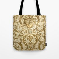 wallpaper Tote Bags featuring Wallpaper by floor-pies