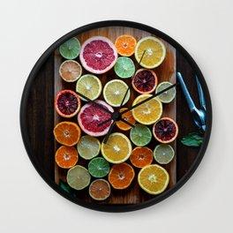 citrus #society6 #decor #buyart Wall Clock
