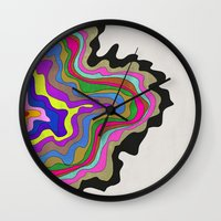 coasters Wall Clocks featuring Color Wave by Georgiana Paraschiv