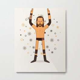Undisputed Bay Bay (Wrestler Illustration) Metal Print
