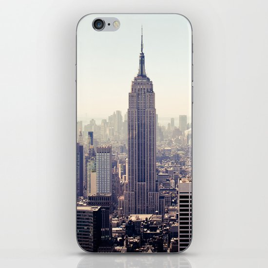 Manhattan - Empire State Building Pano | colored iPhone & iPod Skin