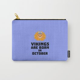 Vikings are born in October T-Shirt D0v8r Carry-All Pouch