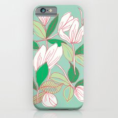 Floating Tulips (mint green) Slim Case iPhone 6s