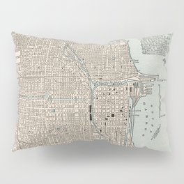 Vintage Map of Chicago (1893) Pillow Sham