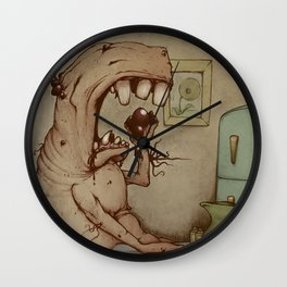 Eating Sores Wall Clock