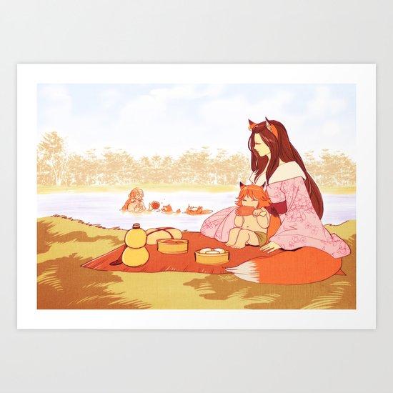 Beside the Lake Art Print