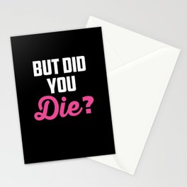 Crazy Nurse But Did You Die? Design Registred Midwife Gift print Stationery Cards