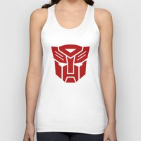 transformers Tank Tops featuring Transformers by tshirtsz