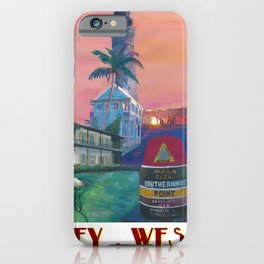Key West Florida Southernmost Dreams Retro Travel Vintage Poster iPhone Case