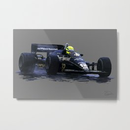 Senna na Chuva Metal Print