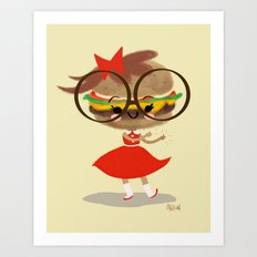 Burger Cutie Time Art Print